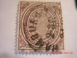 NORTH GERMAN CONFEDERATION, SCOTT#24, 1/2 S, DULL VIOLET BROWN, USED - North German Conf.