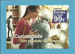 LUFTHANSA - ADVERTISING - CURIOSIDADE - EUROPA Desde 99 € - 2 Scans - Flugwesen