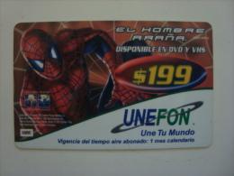 MEXICO - PREPAID CARD - UNEFON - SPIDERMAN - RARE