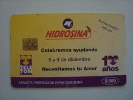 MEXICO  - OIL CARD - HIDROSINA - 10 A�OS - TELETON -  $500
