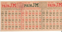 Carte De Tickets Bons Timbres Titres D'alimentation Mars 1949 Pain Cachet Mairie Du 7e Arrondissement De Paris - Historical Documents