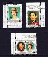 Aitutaki 1981 Royal Wedding Set Of 3 MNH - Aitutaki