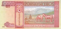 MONGOLIA P. 63c 20 T 2005 UNC (2 Billets) - Mongolia