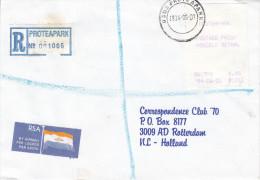 Afrique Du Sud - Lettre Recommandée De 1994 - Vignettes D´affranchissement - Oblitération Proteapark - Vignettes D'affranchissement (Frama)