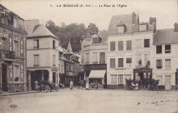 LA BOUILLE  - Place De L'église  - Animée ( ELD ) Vue Peu Courante - La Bouille