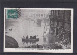 Perforés - France - Carte Postale De 1910 - Paris Innondé - Semeuses - Expédié Vers La Belgique - France