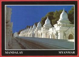 CARTOLINA NV BIRMANIA MYANMAR - MANDALAY - Kuthodaw Pagoda - 10 X 15 - Myanmar (Burma)
