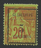 Guadeloupe, 3 C. On 20 C. 1889, Sc # 3, MH - Guadeloupe (1884-1947)