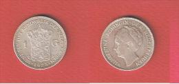 PAYS BAS  //   1  GULDEN 1923  // KM # 161.1 //  1 GRIFFURE VISAGE SINON SUP - 1 Gulden
