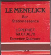 LE MENELICK Bar Station Essence LOPERHET Tél 07.06.70 Direction Quimper - Boites D'allumettes