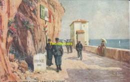 CPA ILLUSTRATEUR W BERAUD OILETTE RAPHAEL TUCK MENTON LE PONT SAINT LOUIS LE POSTE DE DOUANE - Tuck, Raphael