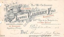 75 11 435 PARIS 1904 Futailles LOUIS GILBERT Fils 24 rue Salpetriere & 8 Bruant Baril & foudre & fut