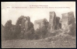 Cpa Du 56 Les Forges Des Salles Ruines Du Château Famille Rohan -- Sainte Brigitte -- Cléguérec   JUI40