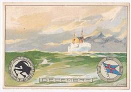 Compagnie Belge Maritime Du Congo. (artist L.Noroy,chromolitho) - Passagiersschepen