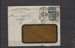 16 - Cognac - Henri Poupelain - Commission Representation - Env. Pub Voyagée - Postmark Collection (Covers)