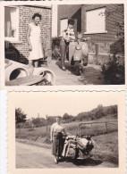 SCOOTER-ZUNDAPP-BELLA -LOT DE 2 PHOTOS ORIGINAL D'EPOQUE-( + - 7 - 10 CM )-BELGIQUE- DES ANNEES '50 - Automobiles