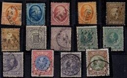 PAYS-BAS - Bon lot de timbres oblit�r�s entre 1852 et 1891 TB � prix int�ressant +