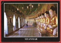 CARTOLINA NV BIRMANIA MYANMAR - SAGAING - Onhmin Thonze Pagoda - 10 X 15 - Myanmar (Burma)