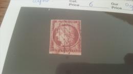 LOT 228482 TIMBRE DE FRANCE OBLITERE N�6 VALEUR 950 EUROS LEGERE COUPURE
