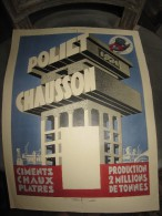 AFFICHE PUBLICITAIRE ANCIENNE POLIET CHAUSSON 1931 STREBELLE