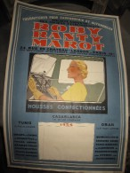AFFICHE PUBLICITAIRE ANCIENNE ROBY RANTY MAROT PARIS TUNIS ORAN FOURNITURES AUTOMOBILES 1934