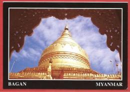 CARTOLINA NV BIRMANIA MYANMAR - BAGAN - Shwezigon Pagoda - 10 X 15 - Myanmar (Burma)