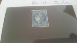 LOT 228563 TIMBRE DE FRANCE NEUF* N�45B VALEUR 1500 EUROS