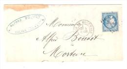 GARE De MOUCHARD, Jura,5 Avril 1870 + Cachet BES P Sur CERES De BORDEAUX N° 46 > Morteau, Timbre TTB !A VOIR - Marcofilia (sobres)