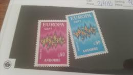 LOT 228646 TIMBRE DE ANDORRE NEUF* N�217/218 VALEUR 41 EUROS