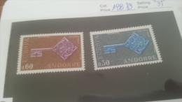 LOT 228648 TIMBRE DE ANDORRE NEUF* N�188/189 VALEUR 35 EUROS