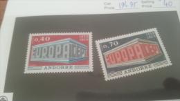 LOT 228649 TIMBRE DE ANDORRE NEUF* N�194/195 VALEUR 40 EUROS