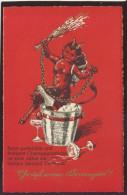 KRAMPUS DEVIL OLD POSTCARD #308 - Holidays & Celebrations