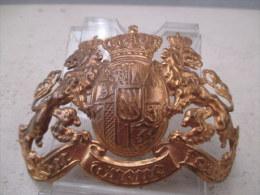 PLAQUE  DE CASQUE  A POINTE EN LAITON BAVAROIS  TRES BON ETAT - Decorative Weapons