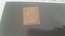 LOT 228663 TIMBRE DE COLONIE REUNION OBLITERE N�40 VALEUR 13 EUROS