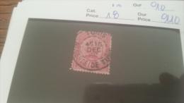 LOT 228682 TIMBRE DE COLONIE TUNISIE OBLITERE N�18 VALEUR 110 EUROS