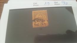 LOT 228683 TIMBRE DE COLONIE TUNISIE OBLITERE N�19 VALEUR 10 EUROS