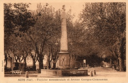 VAR 83 AUPS FONTAINE MONUMENTALE AV G CLEMENCEAU - Aups