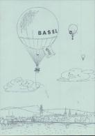 Ballon Postkarte, Mustermesse Basel, Vignette (24455) - Flugwesen