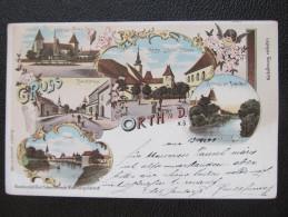 AK ORTH A.d.Donau B.Gänserndorf Litho Schwidernoch 1899  /// D*14001 - Gänserndorf