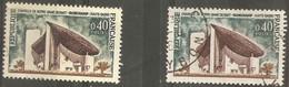 """France 1965  Oblitéré  N° 1435  & 1435a  """" Chapelle Notre Dame à Ronchamp """" - Used Stamps"""