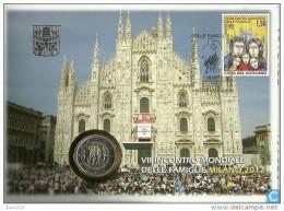 Vaticano 2012 - Philatelic And Numismatic Cover - Milano Pope Benedict XVI - Collections