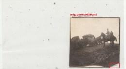 Orig.Photo Allemande- Militaires Soldats Allemand Convoi Hippomobile(FRONT DE L´EST Guerre14-18) - War 1914-18