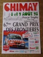 Circuit de Chimay- 67me GRAND PRIX DES FRONTIERES  8 et 9 AO�T 98