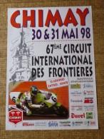 Circuit de Chimay- 67me CIRCUIT INTERNATIONAL DES FRONTIERES   30&31 mai 98