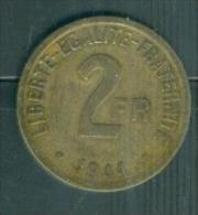 2 frs France Libre de 1944   - pieb7009