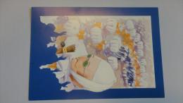14P - Carte De Soutien Numérotée Et Illustrée Carnaval De Binche Le Franc Du Vieillard Oeuvre Bourgmestre Deliège 1997 - Cartes
