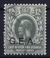 TANGANYIKA 1917 Kenya + Uganda Stamp O/ptd GEA Used Mi Nr 55 - Kenya, Uganda & Tanganyika