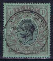 East African And Uganda Pretectorate 1912 Mi Nr 51 Y Blueish Green   Used Fold Left Top - Protettorati De Africa Orientale E Uganda