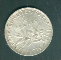 france 2 francs semeuse argent ann�e 1916 pieb7106