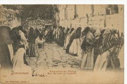 Jerusalem Mur Des Juifs Un Vendredi Judaica   P. Used Palestine Edit Malinowski Breslau Poland - Palestine